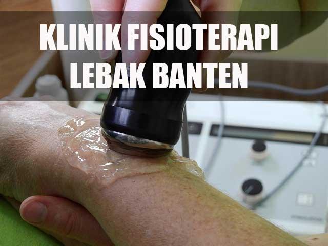 klinik fisioterapi di Lebak Banten