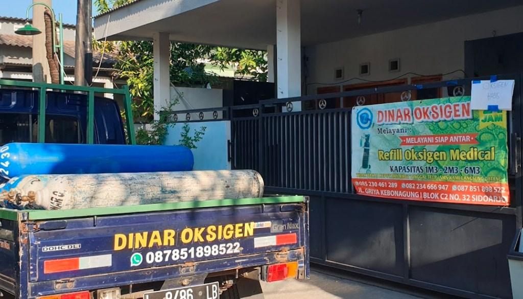 Isi oksigen di Sidoarjo